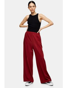 **Wool Burgundy Joggers By Topshop Boutique by Topshop