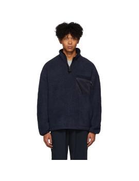 Navy Fleece Pullover by Nanamica