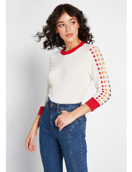 Back In The Day Pullover Sweater by Modcloth