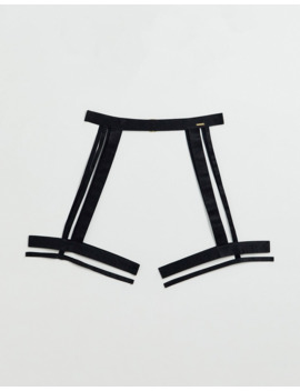 Bluebella Bree Strappy Cut Out Thigh Harness In Black by Blue Bella