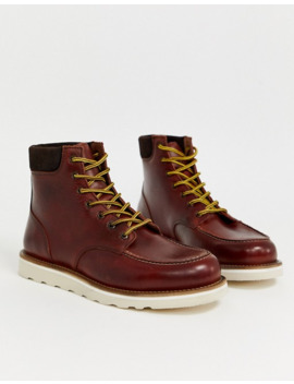 Office Idyllic Heritage Boots In Brown Leather by Asos