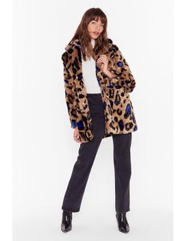 Breakin' The Claw Leopard Faux Fur Coat by Nasty Gal