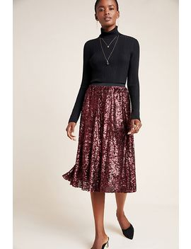 Orleans Sequined Midi Skirt by Maeve