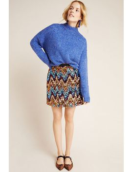 Zig Zag Sequined Mini Skirt by Maeve