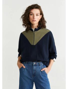 Bicolor Sweatshirt by Mango