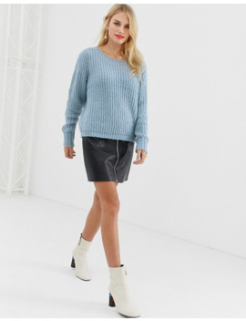 Pieces Wide Knit Jumper by Pieces