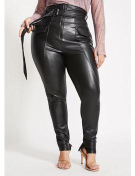 La La Anthony Faux Leather Pant by Ashley Stewart