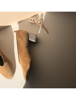 Gray Matters Mildred Suede Pumps   Camel   Exclusive by Garmentory