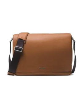 Leather Messenger Bag by Michael Kors