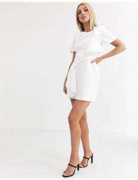 asos-design-tshirt-tuck-detail-mini-skater-dress by asos-design