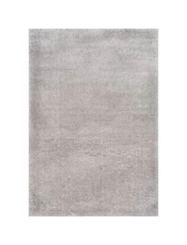 Solid Grey Simple Shag Area Rug by Dormify