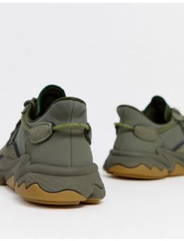 Adidas Originals Ozweego Sneakers In Khaki by Adidas Originals