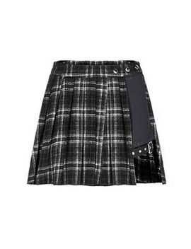 Women's Gothic Plaid A Line Mini Skirts Asymmetric Patchwork Bandage Punk Skirt by Ebay Seller