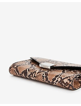 Snakeskin Print Chain Strap Wallet by Express