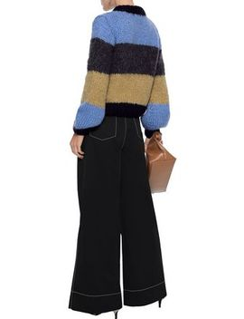 Julliard Color Block Mohair And Wool Blend Sweater by Ganni