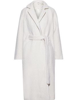 Fenn Bouclé Wool Blend Coat by Ganni