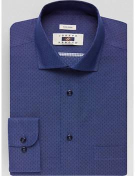 Joseph Abboud Navy Dot Modern Fit Dress Shirt by Joseph Abboud