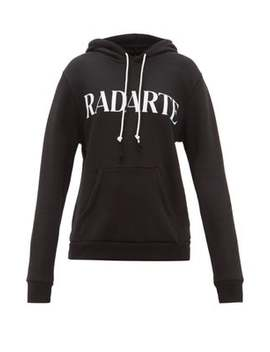 Logo Print Cotton Blend Jersey Hooded Sweatshirt by Rodarte