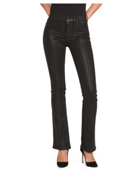 Barbara High Rise Coated Boot Cut Jeans by Hudson