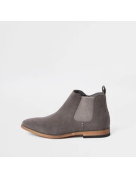 Boys Grey Chelsea Boots by River Island