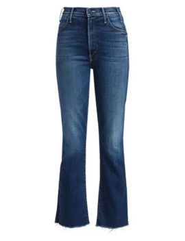 Hustler High Rise Ankle Frayed Cropped Jeans by Mother