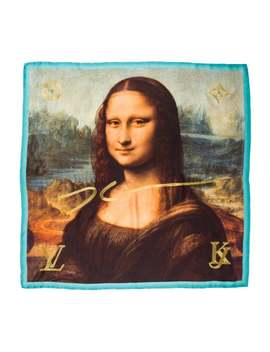 2017 Masters Collection Mona Lisa Silk Scarf by Louis Vuitton