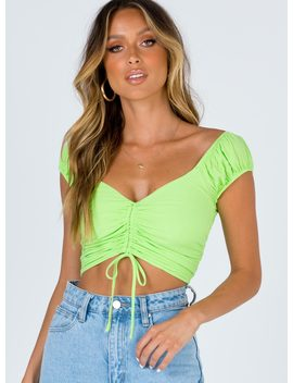 The Darshan Top Lime by Princess Polly