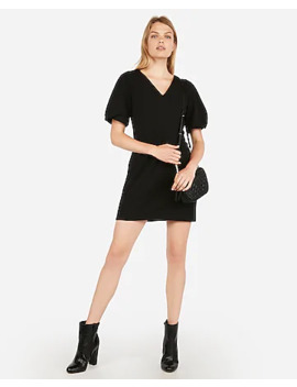 Puff Sleeve Shift Dress by Express