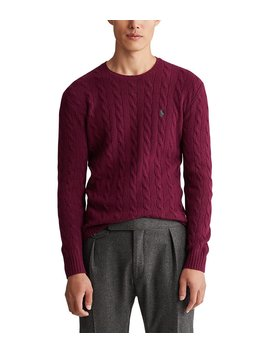Big &Amp; Tall Cable Wool Cashmere Sweater by Polo Ralph Lauren