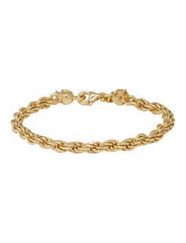 Ssense Exclusive Gold Tiny Rope Bracelet by Emanuele Bicocchi