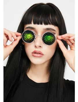 Saw The Sun Hologram Sunglasses by Replay Vintage Sunglasses