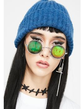 Smirk N' Smile Hologram Sunglasses by Replay Vintage Sunglasses