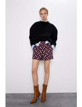 Circle Print Shorts by Zara