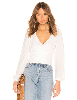 Sasha Wrap Top In White by Superdown