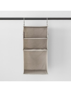 3 Shelf Hanging Fabric Storage Organizer Light Gray   Made By Design™ by Shop Collections