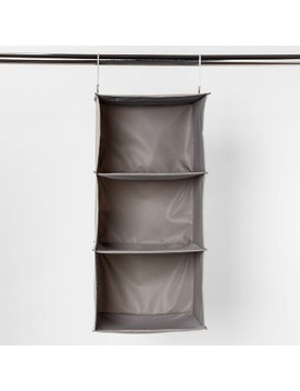 3 Shelf Hanging Closet Organizer Gray   Room Essentials™ by Room Essentials