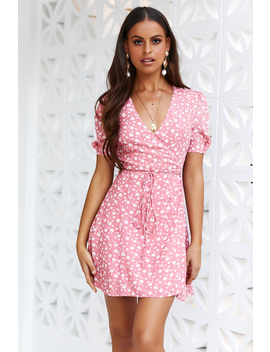 Think Of Your Friends Dress Pink by Hello Molly