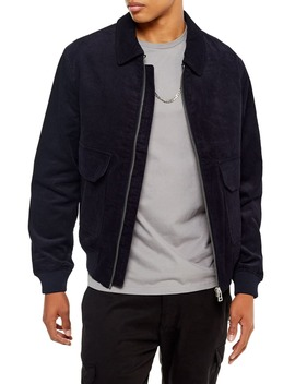 Harrington Slim Fit Zip Up Corduroy Jacket by Topman
