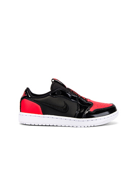 Aj 1 Low Slip Sneaker In Burnt Crimson & Black by Jordan