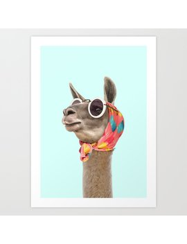 Fashion Lama Art Print by Society6