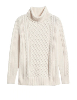 Petite Cable Knit Sweater Tunic by Banana Repbulic