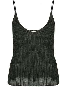 Lurex Weave Vest by Saint Laurent