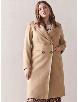 Camel Wool Blend Coat   Addition Elle Camel Wool Blend Coat   Addition Elle by Addition Elle
