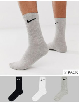 Nike Training 3 Pack Crew Socks In Multi by Nike's