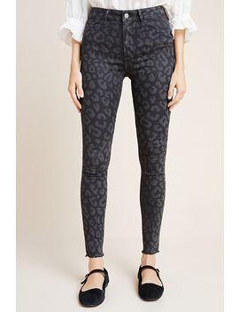 Dl1961 X Marianna Hewitt Farrow Leopard High Rise Skinny Jeans by Dl1961