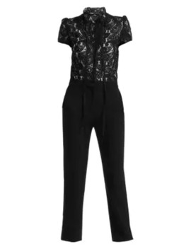 Palilo Paisley Lace Two In One Jumpsuit by Maje