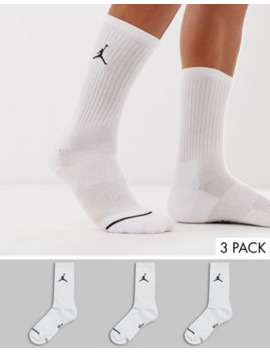 Jordan 3 Pack Socks In White by Jordan