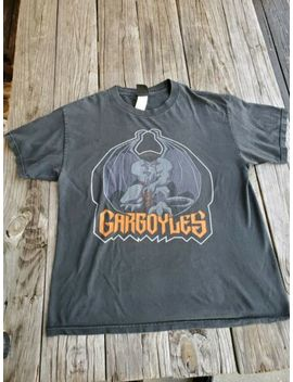Vintage Mens Gargoyles Giant Large Spell Out Warrior Rare Promo T Shirt Disney by Giant