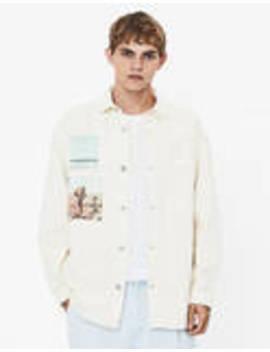 Overshirt With Print by Bershka