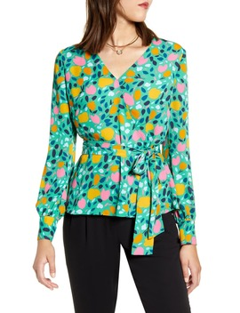 Faux Wrap Blouse by Halogen®